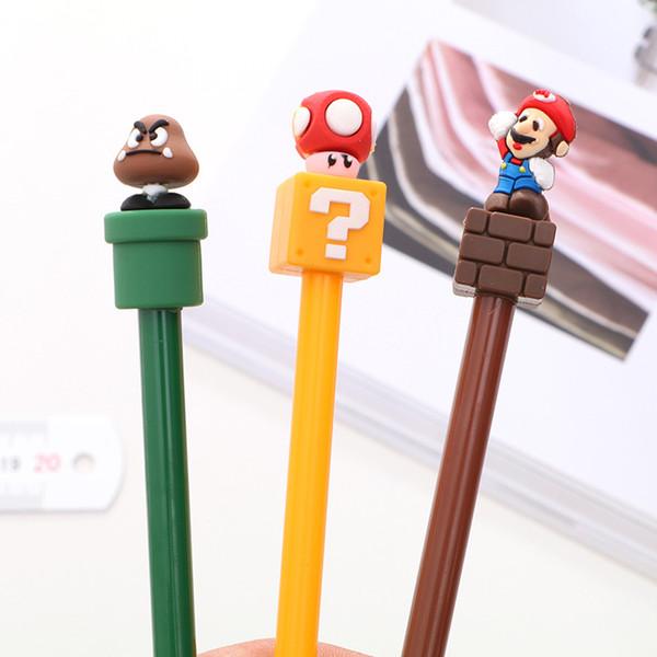 best selling 0.5mm Black Ink Fantastic Super Mario Gel Pen Signature Pen Escolar Papelaria School Office Supply Promotional Gift