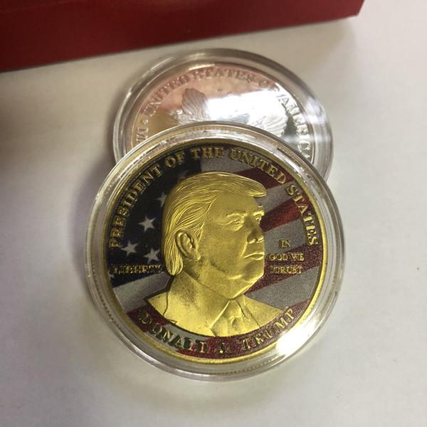 Donald Trump Président Pièce commémorative Trump Pièces en fer Pièces de collection Pièces cadeau Amérique Président Trump Pièce commémorative BH2024 TQQ