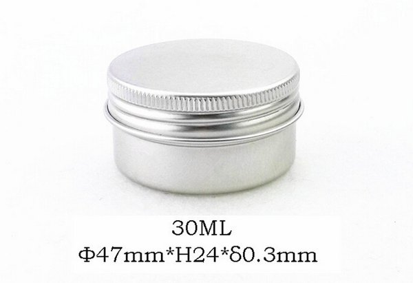 Factory Price 1000pcs/lot 30ml Aluminum Lip Gloss Container 30g Lipstick Box Metal Jar Lip balm Cosmetic Packaging storage box