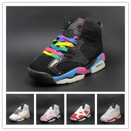 (with boxes)Free shipping 2018 Children's 6 VI Basketball Shoes Kids 6s Sports Boys Girls Youths Baby outdoor Sneakers size 28-35