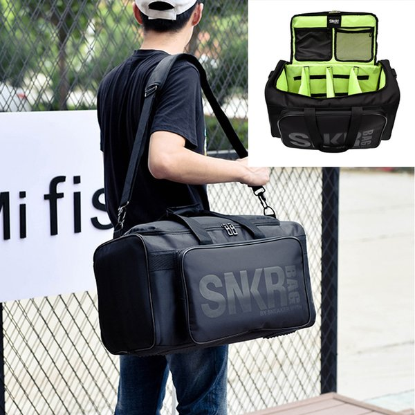 LISM Large Multiple Compartment Sport Training Gym Bags Men Sneaker Gym Bags Packing Cube Organizer Waterproof Shoulder
