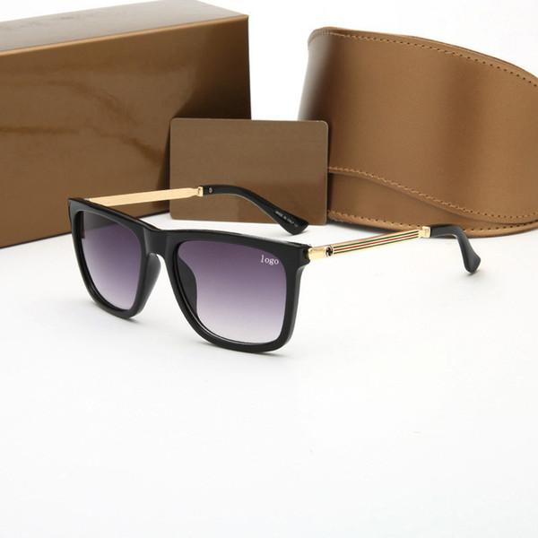 Marca de fábrica 2019 lente de cristal polit luxury Lentes de sol de 360 gafas de sol de buena calidad para hombres gafas de diseñador gafas vintage metal sport sun glass
