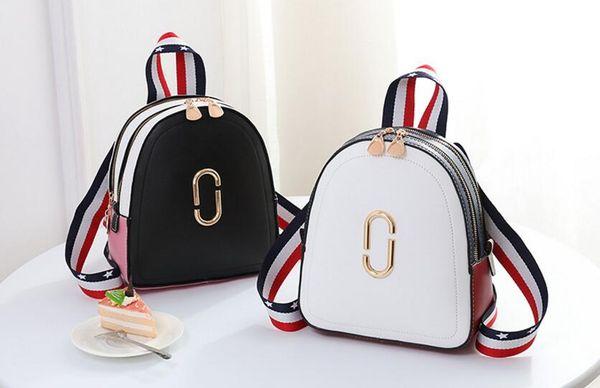 Mujeres de la marca linda de rayas con lentejuelas mochila de alta calidad de compras mensajero bolsas de hombro niñas de viaje mochilas escolares