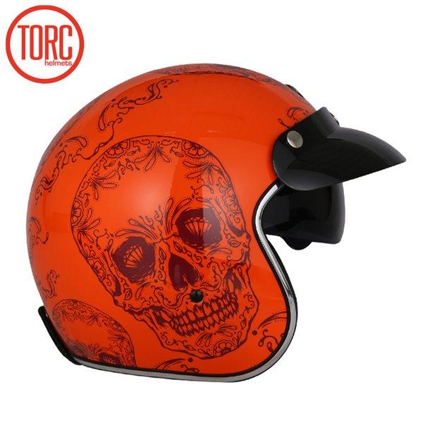 New arrival Torc 3/4 open face vintage scotter jet motorcycle helmet retro helmets casque moto bikes helmet
