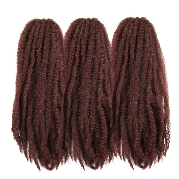 Afro Kinky Marley Braids Crochet Hair Extensions ZXTRESS 18inch High Temperature Fiber Synthetic Braiding Hair