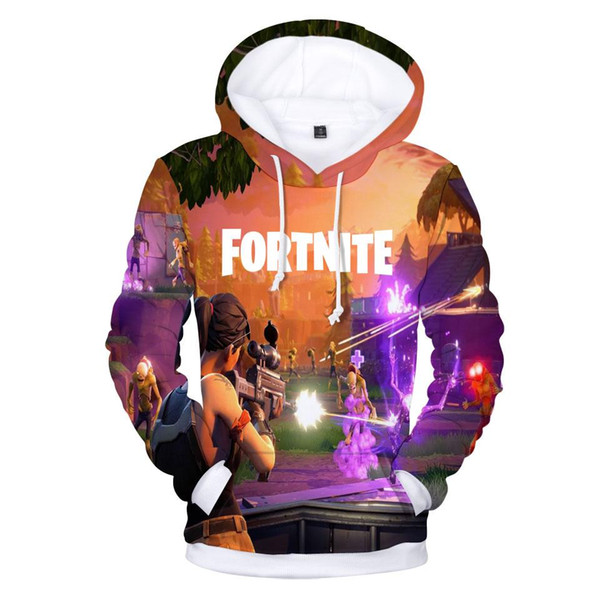 2019 2018 New 3d Printed Fortnite Hoodies Pullover Plus Size 4xl O Neck Hooded Funny Sweatshirts Men Colorful Men Hoodies Sweatshirts From