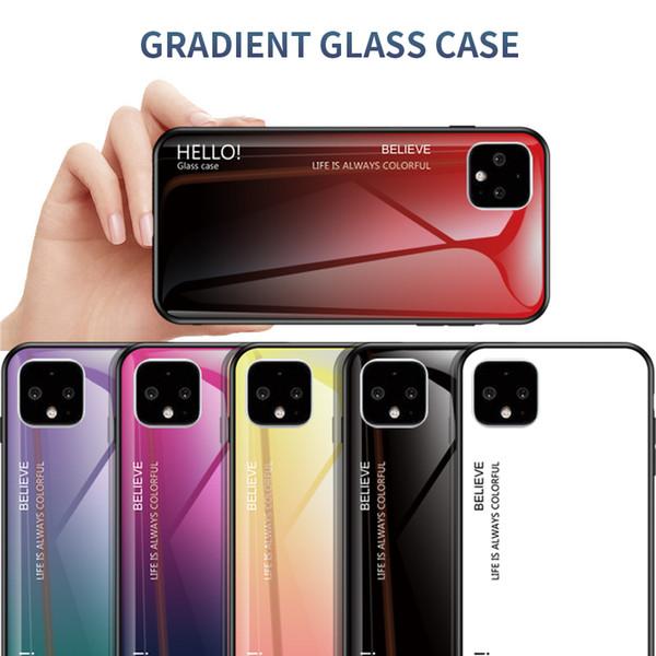 Slim coloré dégradé en verre trempé cas pour Google Pixel 4 XL 4 3A XL 3A 3 2XL 2 ASUS ZB601KL ZB631KL ROG2