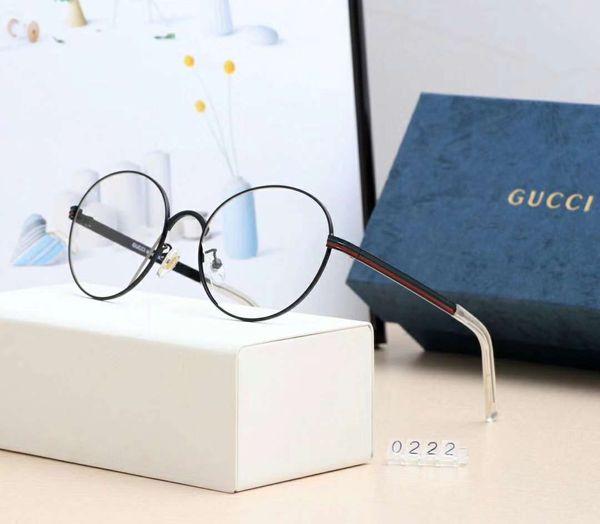 Yeni Moda Tasarımcısı Güneş Gözlüğü Düz Miyopi Ayna Lüks Erkekler Kadınlar için Güneş Gözlüğü Gözlüğü Işık Gözlük Kutusu ile Yüksek Kalite Modeli 0222