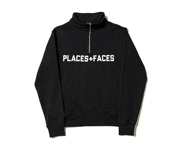 2019 mode classique Places Faces Hoodie Mens P + F Sweat-shirt noir jaune design Hommes Femmes Streetwear Coton Pull Réchauffez Sweat Jac