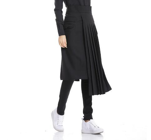 2019 Women And Men Clothes Bigbang Hair Stylist Fashion KTV Night Bar Long Skirt Working trousers Apron male Singer Costumes