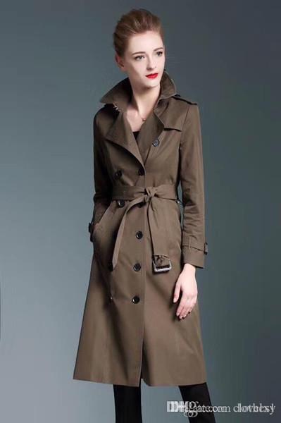 Г-жа новая длинная куртка ветровка весной и осенью двубортный с тонкой водонепроницаемой сплошной цвет ветровки бесплатная доставка 188