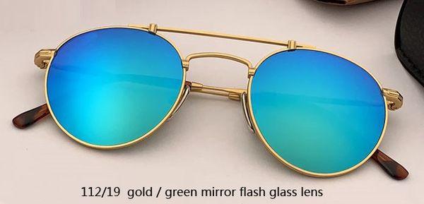 112/19 flash dorado / verde espejo
