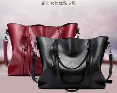 Europe and the United sale States winter new tote bag fashion big bag export Africa oil leather handbag shoulder bag