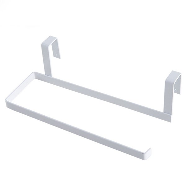 New Iron Holder Bathroom Tissue Hanging Toilet Roll Paper Towel Rack Kitchen Cabinet Door Hook Holder Tool 669