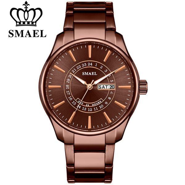 SMAEL Top Brand Men Full Steel Business Casual Calendar Wrist Watches Fashion Quartz Watches Men's relogio masculino