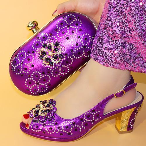vente chaude chaussure italienne avec sac assorti chaussure et ensemble de sac pour le parti dans les femmes italiennes assortie chaussure et sac ensemble parti W3