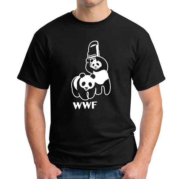 WWF Mens Summer Designer Solid Color Tshirts Crew Neck Short Sleeve Panda Print Fashion Homme Clothing Fashion Casual Apparel