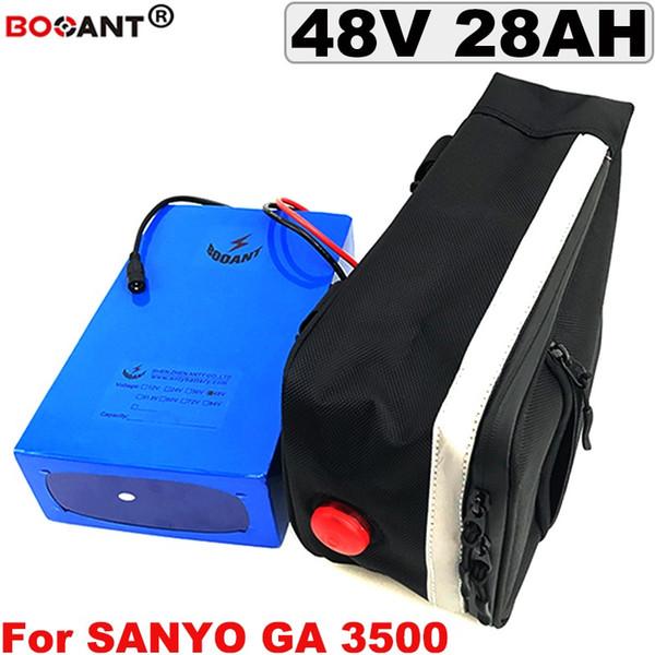 Batteria al litio 48V 28AH per batteria al litio Sanyo 18650 13S 8P 48V bici elettrica originale 48V con un sacchetto Spedizione gratuita