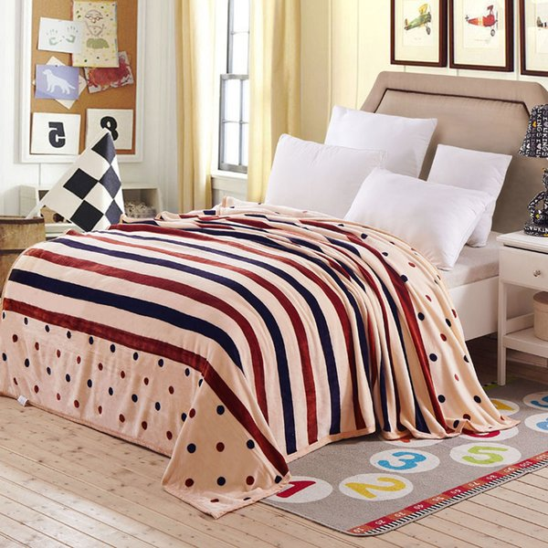 Luxury 4 Size High Density Double Layer Super Soft Winter Flannel Blanket on Sofa Bed Plane Travel Plaids Adult Home Textile