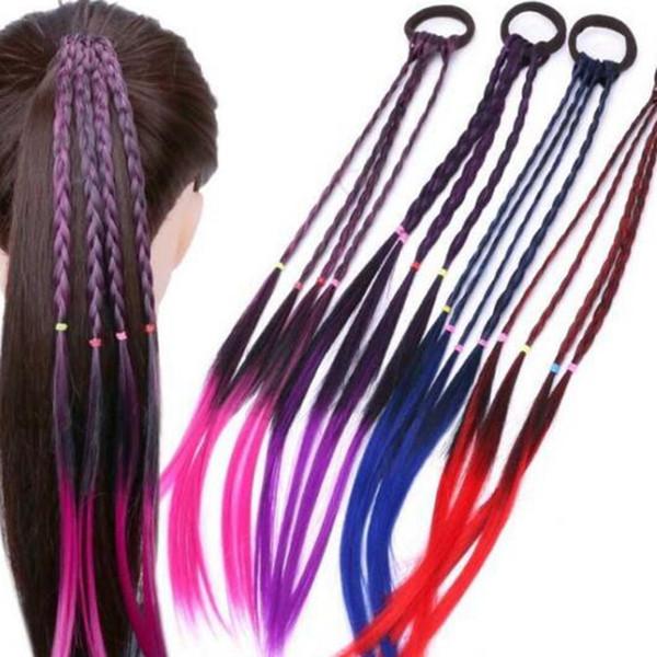 Los nuevos accesorios del pelo, las niñas de goma del pelo Bandas trenzado trenza Accesorio de cabeza, niñas accesorios de danza A314 al por mayor