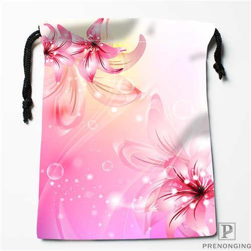 Özel Baskı pembe-çiçekler-İpli Alışveriş Çantaları Seyahat Depolama Kılıfı Yüzmek Yürüyüş Oyuncak Çanta Unisex Çok Size18-12-31-167