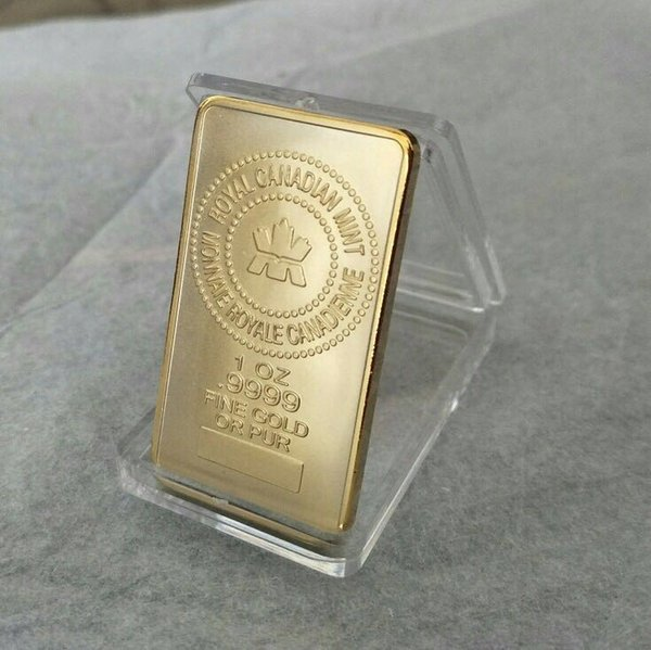 best selling The Royal Canadian mint gold plated 1 OZ souvenir bullion bar 20pcs lot