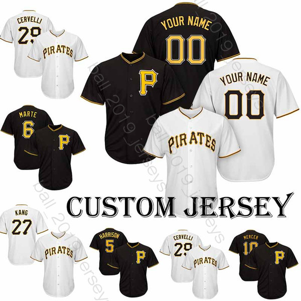 buy popular bc3d7 ebffa 2019 Pittsburgh Jerseys Pirate 8 Stargell Majestic 24 Chris Archer Jersey  55 Josh Bell Baseball Custom Jersey 53 Melky Cabrera T Shirt From ...