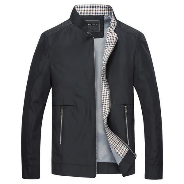 Mountainskin New Frühling und Herbst Jacken der Männer beiläufige Mäntel Solid Color Herren-Marken-Kleidung Stehkragen Male Blousons