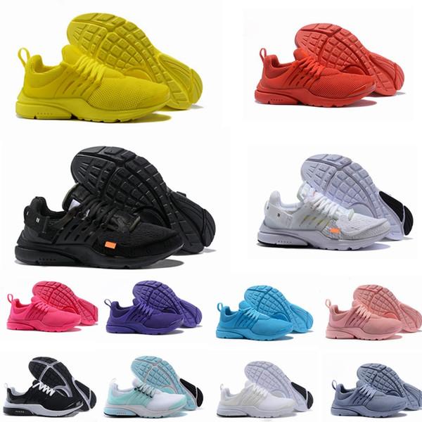 best selling 2020 PRESTO BR QS Breathe Yellow Black White Men Women Running Shoes Presto Ultra Jogging Walking Trainers Sport Sneakers 36-46