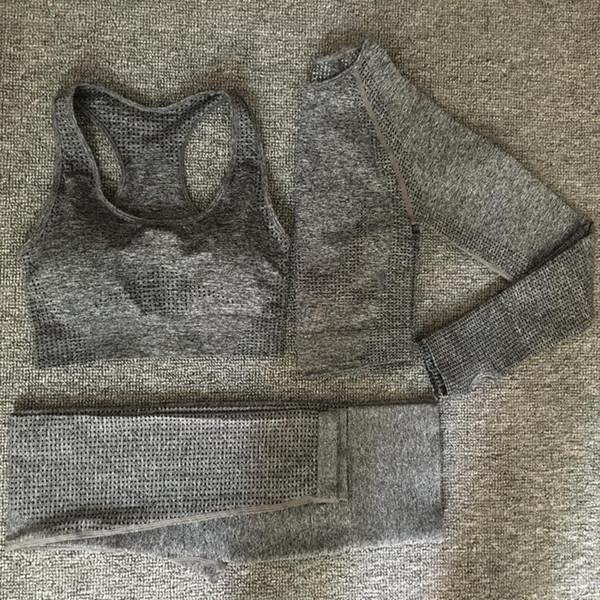 gris oscuro 3pcs conjunto