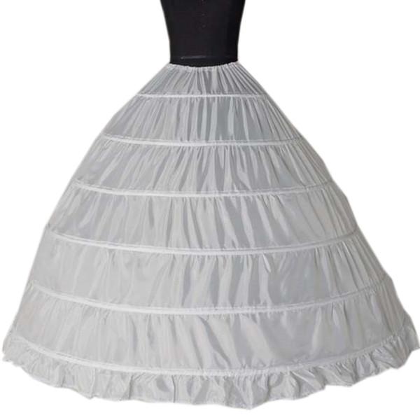2019 Atacado 6 Hoops Anáguas Bustle para vestido de baile vestidos de casamento Underskirt nupcial acessórios Crinolines nupcial