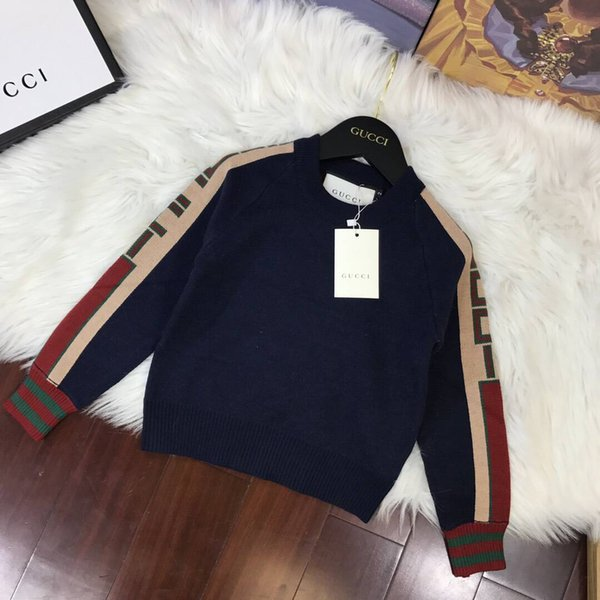 Hot Sale Boy Sweater 2019 Autumn Brand Design Wool Knitted Pullover Cardigan For Baby Girls Children Clothes Kids Infant Top fenash7