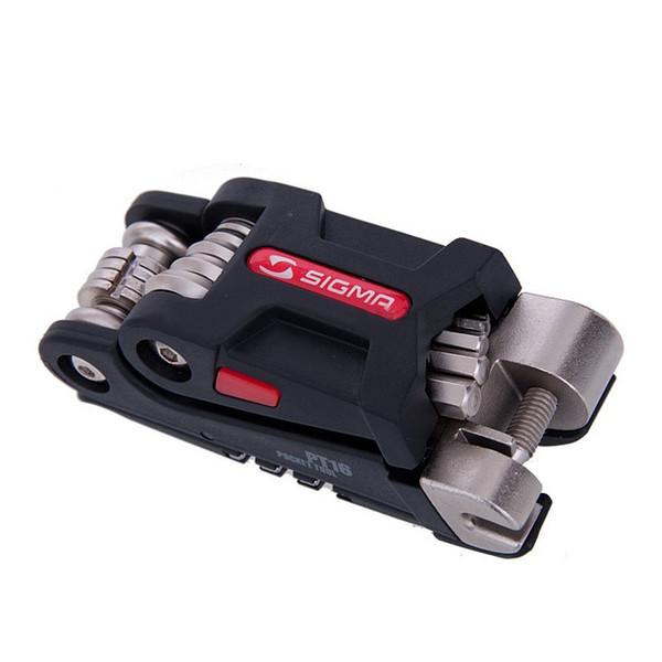 Bolsillo de la herramienta de reparación de bicicletas multifunción PT16 kits Mini portátil de bicicletas del sistema de herramienta hexagonal Llave de radios Montaña Ciclo de herramientas del destornillador