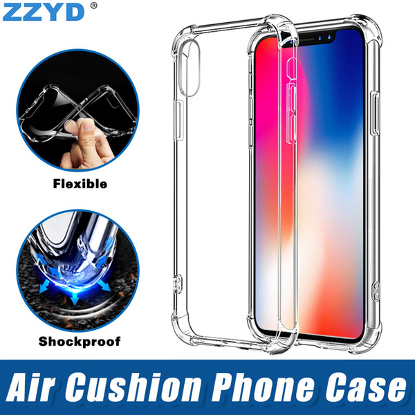 best selling Air Anti Knock Soft TPU Transparent Clear Phone Case Shockproof Protect Cover for iPhone 6 7 8 plus X XR XS Max Samsung Galaxy S8 S9 S10
