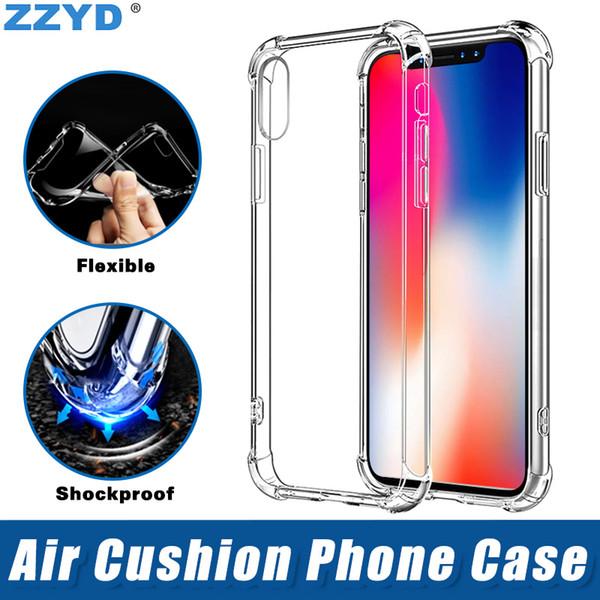 Air Anti Knock Мягкий ТПУ Прозрачный Чехол для телефона Противоударный Защитная крышка для iPhone 6 7 8 плюс X XR XS Макс Samsung Galaxy S8 S9 S10