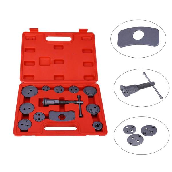 Front and Rear Brake Piston Compression Tool 12pcs Car Piston Pump Brake Precision Disc Brake Caliper Tool Kit