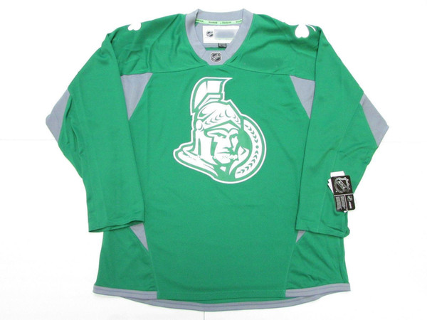 reputable site 7d302 7d807 2019 Cheap Custom OTTAWA SENATORS ST. PATRICK'S DAY GREEN PRACTICE HOCKEY  JERSEY Stitch Add Any Number Any Name Mens Hockey Jersey XS 6XL From ...