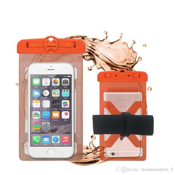 Universal-Armband-Abdeckung Wasserdichte Schutztasche für iPhone 7 6S Coque Beutel wasserdichten Beutel-Kasten für Samsung-Schwimmen Unterwassergehäuse (Retail)