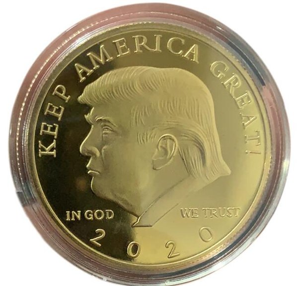 best selling In God We Trust Trump Coin 2020 Gold Silver Coin Badge Lucky Coin Keep America Great