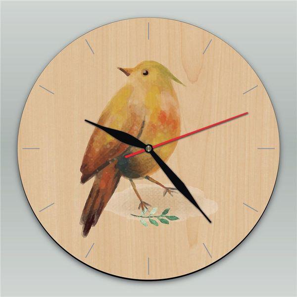 Her türlü kuşlar, flamingolar Modern Tasarım Ahşap Duvar Saati Ofis Saati Kişiselleştirilmiş Ahşap Saat