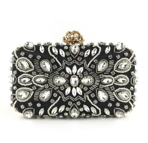 Luxy Moon Evening Bags Diamond Rhinestone Pearls Beaded Wedding Clutch Women's Purse Handbags Wallets Evening Clutch Bag bolsa