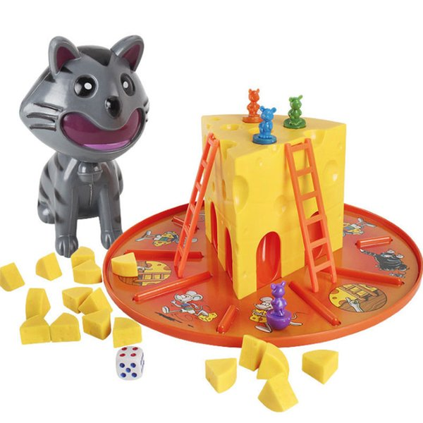 Juguetes populares de la novedad Juego divertido de escritorio Gato y ratón Rata Robó Queso Familia Juguete educativo interactivo para padres e hijos