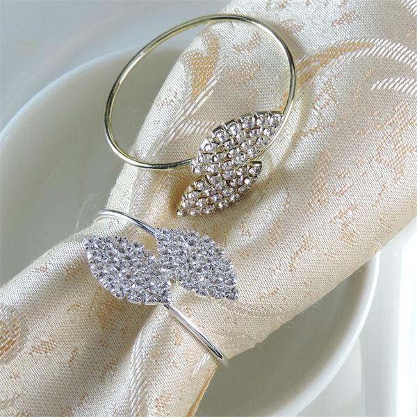 Wedding Banquet için Futaba Çim Rhinestone Peçete havlu Halkalar Metal Masa Örtüsü Halka Dekorasyon Hotel Crystal Peçete Toka Malzemeleri