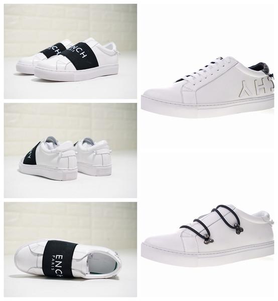 2020 Yeni Tasarım Ayakkabı Moda Lüks Kadın Ayakkabı Erkek baskı Deri Lace Up Platformu Boy Sole Sneakers Siyah Beyaz Günlük Ayakkabılar