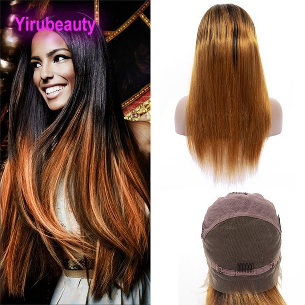 Brazilian Virgin Hair 1B/30 Ombre Human Hair Full Lace Wig Straight Hair Products 1B 30 Full Lace Wigs