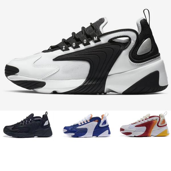 Acheter Nike Air Max Zoom 2K Off White Jordan Basketball Slipper Vepormax  Designer Men Shoes Casual Chaussures Crémeux Blanc Race Rouge Royal Bleu ...