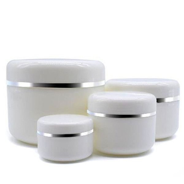 30Pcs 30g 50g 100g 250g Cream Jar White Plastic Makeup Container PP Sample Cosmetics Box Empty Mask Canister Refillable Bottles