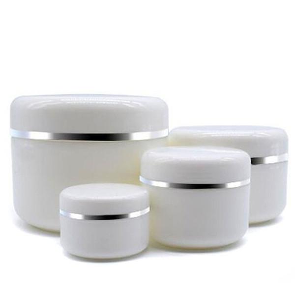 30 Unids 30 g 50 g 100 g 250 g Crema Tarro Blanco Envase de Maquillaje Plástico PP Muestra de Caja de Cosméticos Máscara Vacía Bote Botellas Rellenables