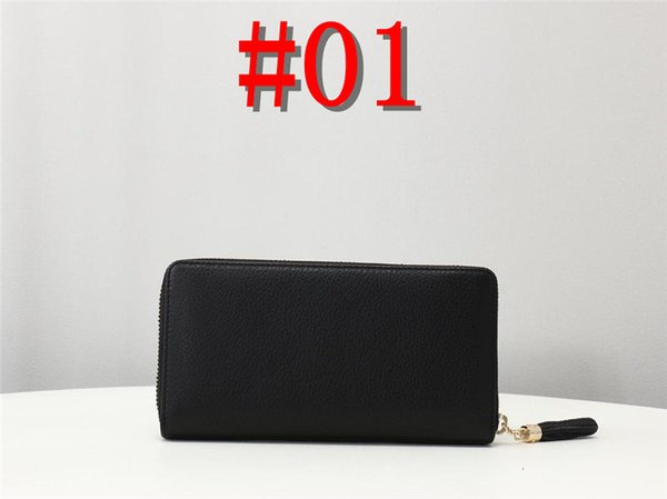 New designer Tote wallet High Quality Leather Men Wallets for women Men Coin purse Clutch Bags with box