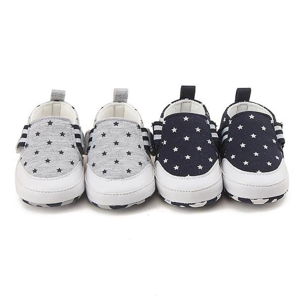 Sapatos de bebê 2019 novo Bebê Recém-nascido Da Menina Do Bebê Menino Impressão Berço Sapatos Sola Macia Anti-slip Sneakers # 4M14